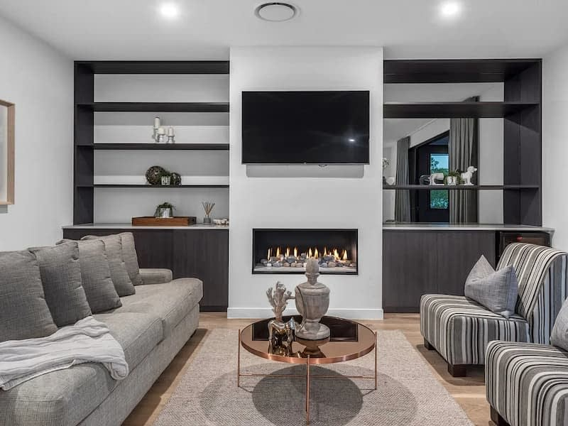 custom cabinets and joinery fireplace